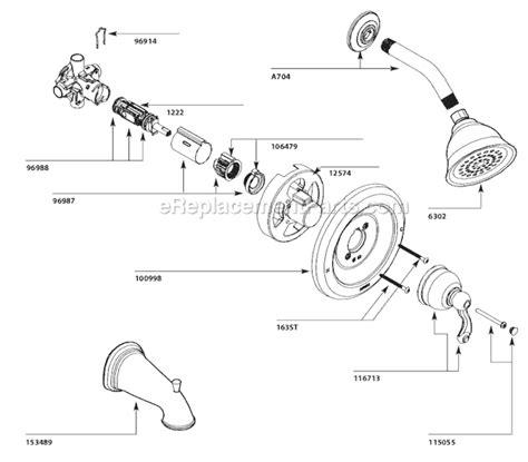 Pegasus Bathroom Faucet Diagram by Moen 82008 Parts List And Diagram Ereplacementparts