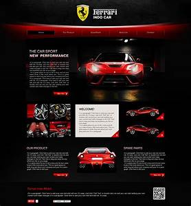 Auto Web : ferrari indo car web template design on behance ~ Gottalentnigeria.com Avis de Voitures