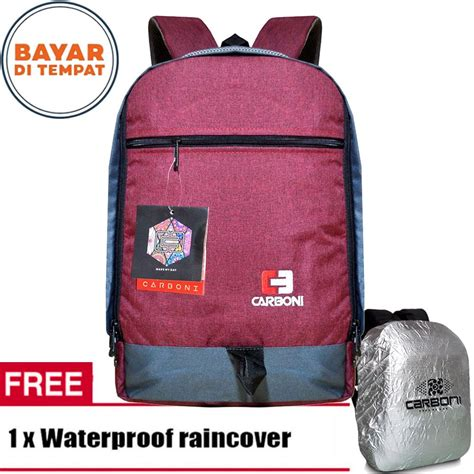 tas ransel carboni ra00058 abu abu raincover smart4k