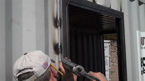 Putting A Door Into A Garage by How To Install A Door In A Metal Shipping Container