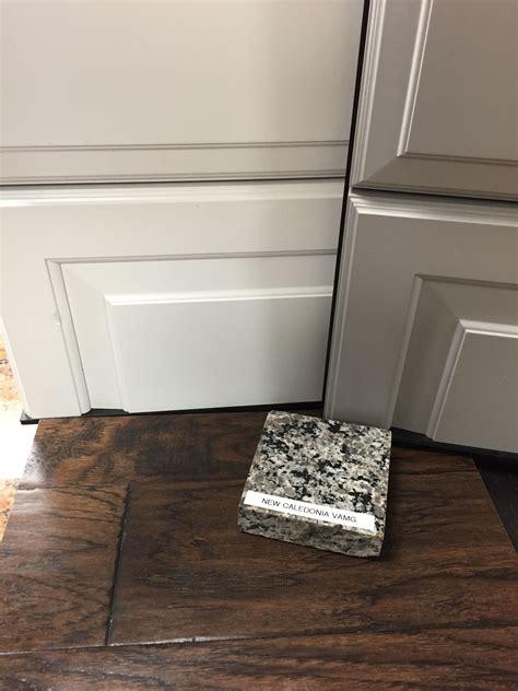 Caledonia Granite Painted Linen Rushmore Cabinets