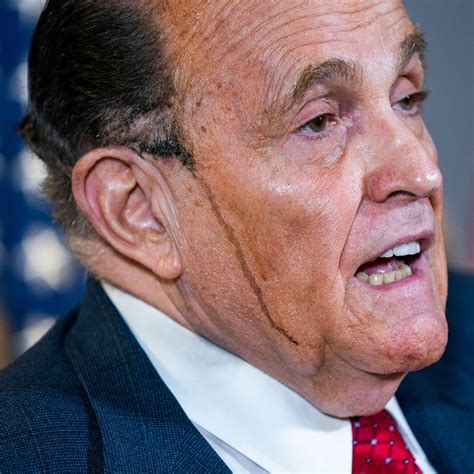 Michelle wie has hit back at rudy giuliani after he shared a story about being able to see the golfer's underwear while she putted during a 2014 golf outing. Rudy Giuliani's Hair Dye Melts Down Face During Conference