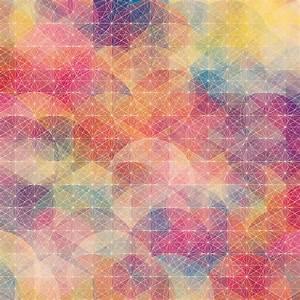 カラフルな幾何学模様の壁紙(iPad3用/2048×2048)