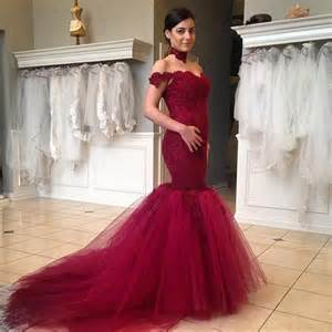 burgundy lace bridesmaid dresses aliexpress buy beautiful lace trumpet style burgundy mermaid prom dresses