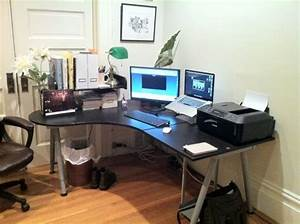 home office with ikea galant desk Home Decor & Details