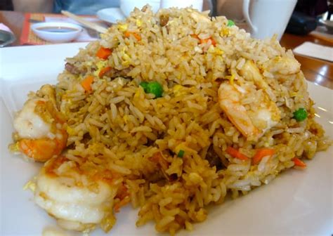 combination fried rice  pork chicken beef fried
