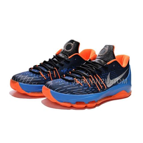 Nike KD 8 Mens Kevin Durant Blue Black Orange Home ...