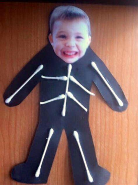 skeleton frame idea halloween preschool preschool