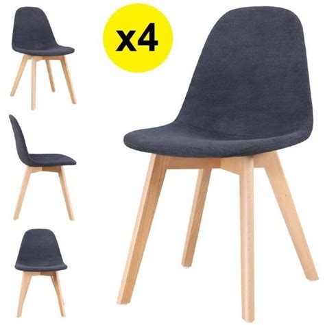 chaise tissu pas cher beau chaise scandinave pas cher et lot de chaises scandinaves gao tissu collection images