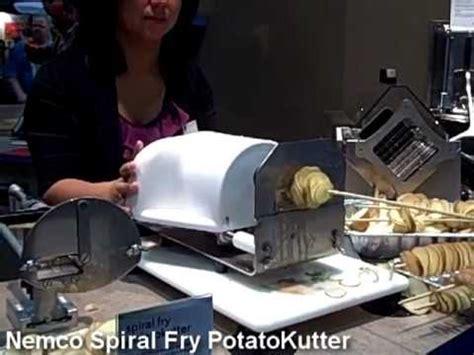 fry cutter ribbon potato cutter demonstration the nemco spiral fry