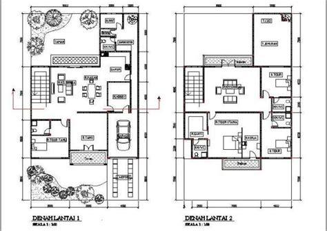 desain denah rumah minimalis  lantai type  gambar