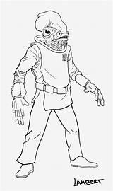 Ackbar Admiral Drawing Wars Star Trap Line Head Digital Fish sketch template