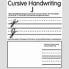 Writing Cursive J Crayolaca