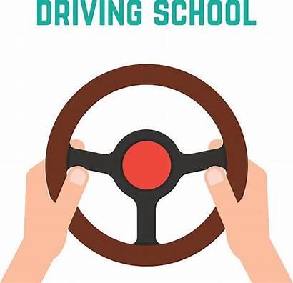 Steering Wheel Holding Hand Vector Cartoon Clip