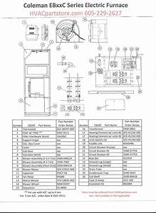 Eb20c Coleman Electric Furnace Parts  U2013 Hvacpartstore