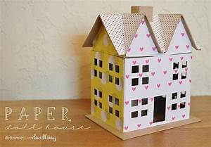 Scrapbook Paper Doll House · How To Make A Dolls House ...