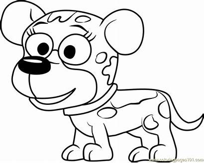 Pound Puppies Coloring Pooches Pages Coloringpages101 Cartoon