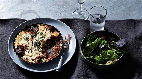 vegetarian lentil  eggplant moussaka recipe sbs food