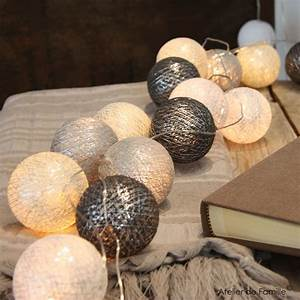 Guirlande Lumineuse Blanche : adf guirlande lumineuse iris e blanche et grise en ~ Melissatoandfro.com Idées de Décoration
