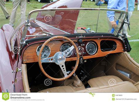Classic British Sports Car Interior Editorial Stock Photo