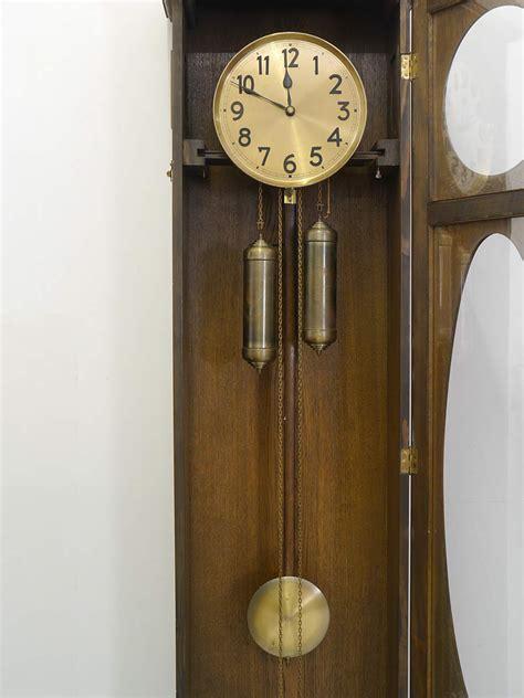schreibtisch nussbaum schwarz uhr standuhr pendeluhr antik um 1931 aus eiche h 198 cm