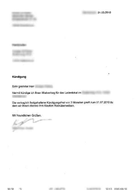 haus kündigung schreiben ladenblog 187 2010 187 april