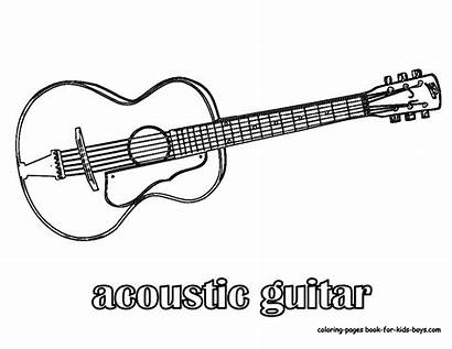 Guitar Coloring Pages Acoustic Mandolin Friends Printable