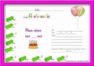 Carte Anniversaire Pour Enfant : carte invitation anniversaire garcon 6 ans ~ Melissatoandfro.com Idées de Décoration