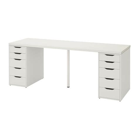 Office Desk Jeddah by Linnmon Alex Table White Ikea