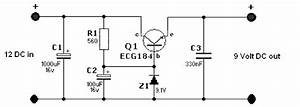 Simple 12 Volt To 9 Volt Dc-dc Converter