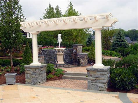 Precast Concrete Fireplace by Custom Pergolas Gazebo Amp Luxury Outdoor Garden Structures Nj