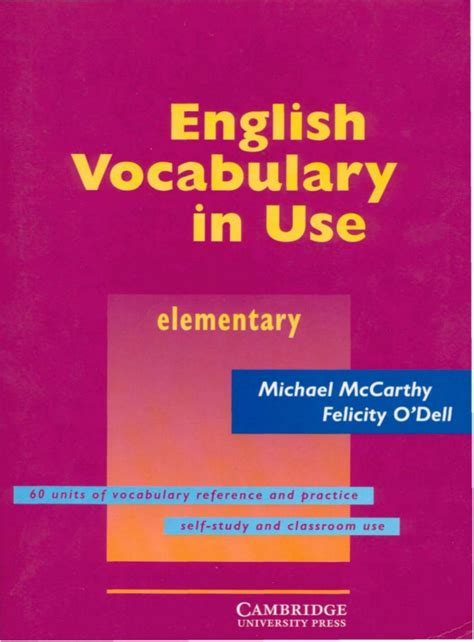Cambridge English Vocabulary In Use Elementary