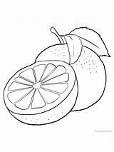 Coloring Grapefruit Fruit Grape Gaddynippercrayons Orange Printable Fruits Colour Cannot However sketch template
