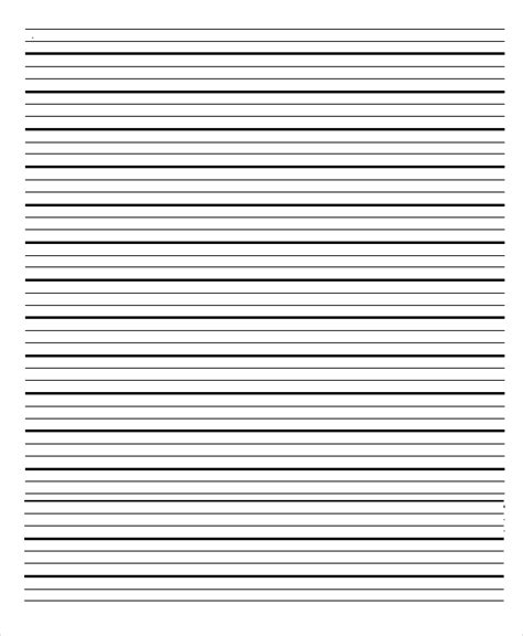 Lined Paper Template Lined Paper Template Lined Paper Templates 6 Free Word Pdf