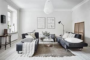 un tapis graphique c39est chic j39opte pour le noir et With tapis noir et blanc scandinave