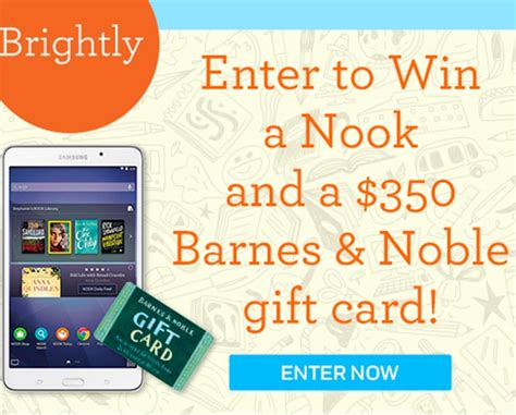 Enter Now! Win A Nook + 0 Barnes & Noble Gift Card From