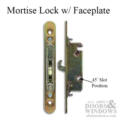 mortise lock  face plate morgan caradco weathershield sliding doors