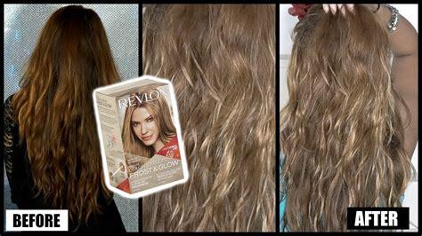 lighten  hair dark  light revlon frost glow