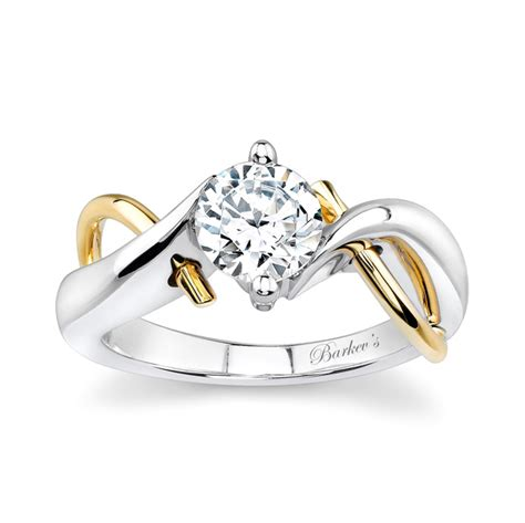 barkev s two tone solitaire engagement ring 5219ly barkev s