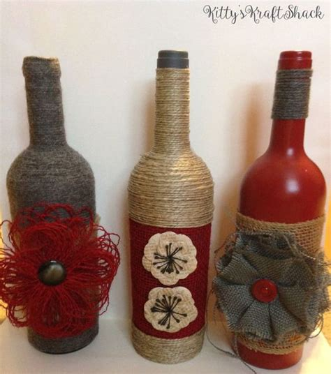 bottle deco and decorative wine bottles on pinterest