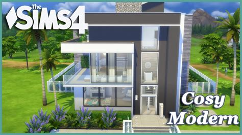 sims  cosy modern house build youtube