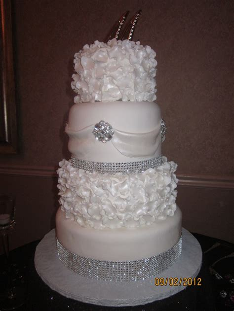 bling wedding cakes classic white wedding cake with bling all things