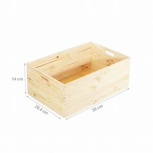 Caisse En Bois : caisse de rangement en bois empilable pin fsc ~ Nature-et-papiers.com Idées de Décoration