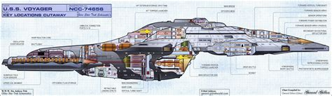 Starship Voyager Deck Plans by Blueprints Voyager Scifi Forum