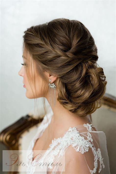 elegant wedding braided updo hairstyles for long hair