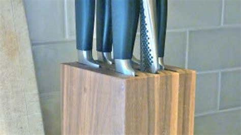 build  wooden knife block diy knife block plans
