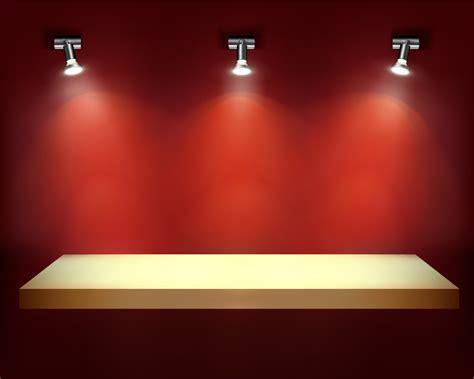 wall decoration at スポットライトで照らした展示台 indoor wall decoration イラスト素材 ai eps