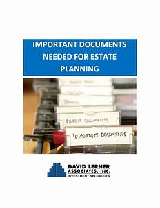 important estate planning documents With estate planning documents online