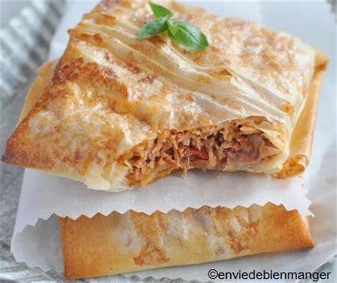 cuisiner feuille de brick recette de thon à la tomate en feuille de brick recettes diététiques