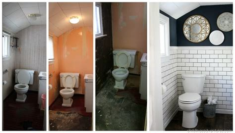 Before And After Small Bathrooms by Small Bathroom Makeover Christinas Adventures